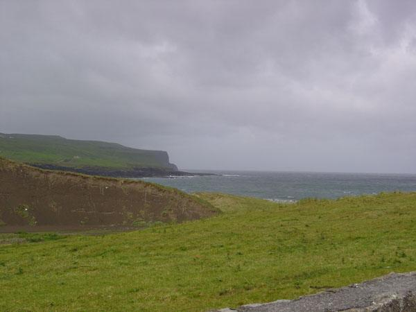 View from Doolin looking towards the Cliff the Moher.
