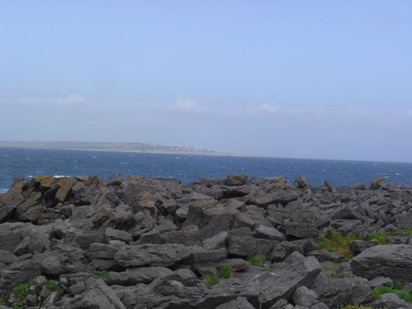 The closest of the Aran islands as seen from Doolin.