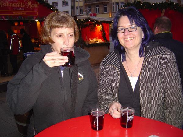 Enjoying a nice hot glass of Obstwein