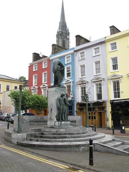 The monument to the Lusitania victims in Cobh.