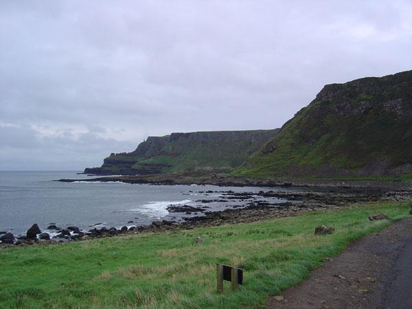 The Giants Causeway consists of approximately 40,000 polygonal basalt columns jutting into the sea beneath sheer cliffs that for