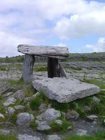 Poulnabrone... this dramatic site, on the karstic limestone pavement of the Burren, is one of the most famous Irish dolmens. The