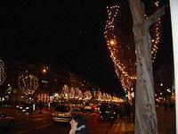 The Champs Elysées decorated for Christmas.