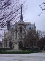 The back side of Notre Dame.