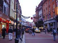 Grafton St. decorated for the holidays.