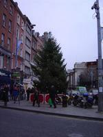 "The christmas tree at the head of Grafton St. right in front of the ""tart with the cart""."