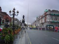 Looking askew up O'Connell Street.