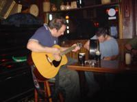 A traditional Irish music session at the Hemingford Arms with Leeson, from the punk band Neck.