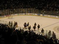 The Bruins won 3-2 in overtime.
